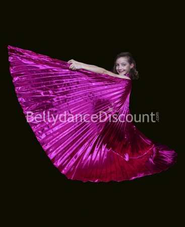 Opaque Bellydance Isis wings for kids fuchsia