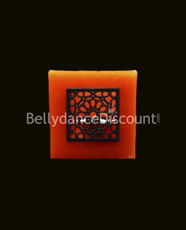 Porte-bougie oriental orange