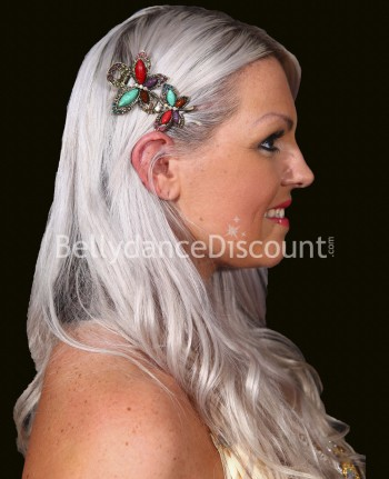 Multicolor oriental dance hair slide