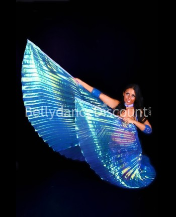 Dark blue transparent belly dance Isis wings