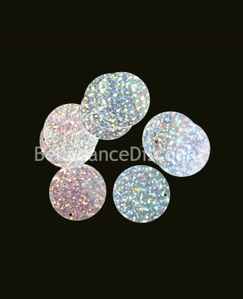Pack of 100 silver glittery paillettes to sew