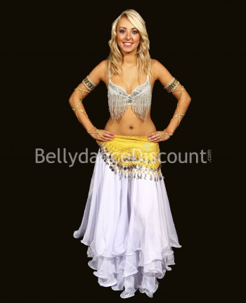 Yellow belly dance belt...