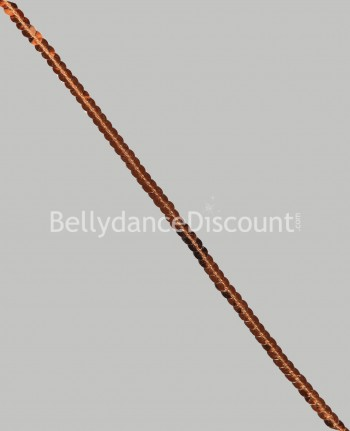 Brown 1 meter sequins chain