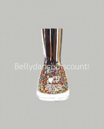 Glittery nail polish multicolor
