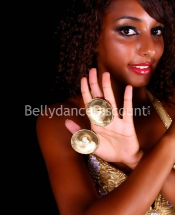 Belly dance golden finger cymbals