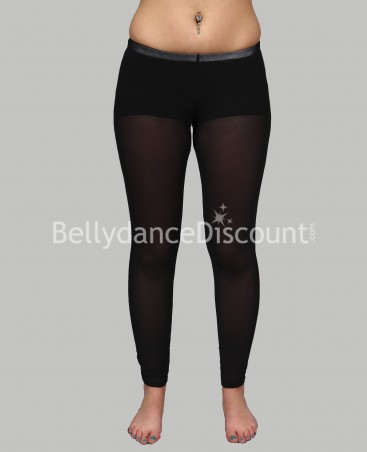Black transparent legging for dance lessons