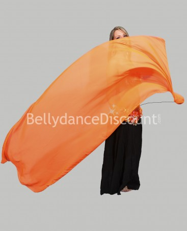 Orange belly dance Veil Poi