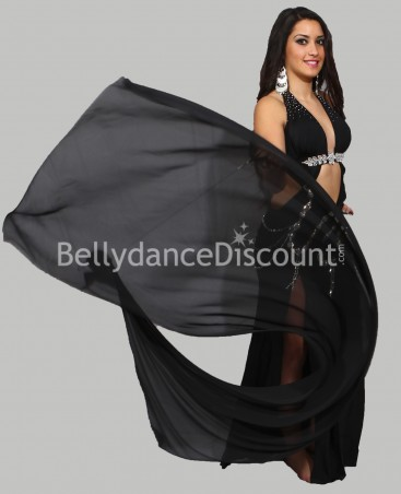 Black belly dance Veil Poi