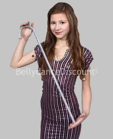 Silver belly dance children's cane