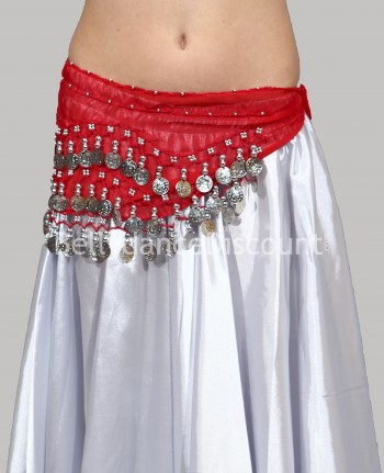 Red belly dance  children's belt