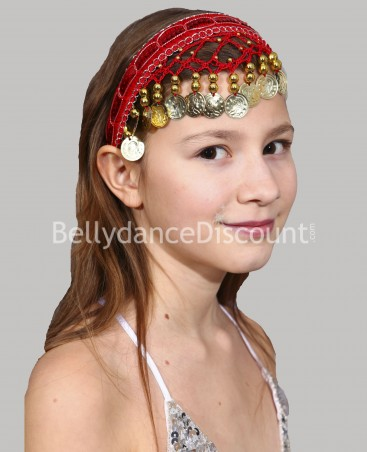 Red oriental dance hairband