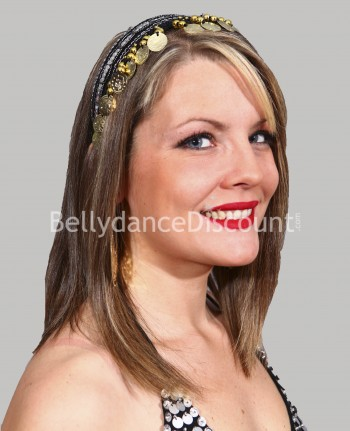 Black oriental dance hairband
