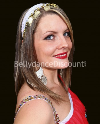 White oriental dance hairband