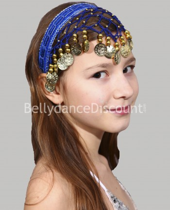 Dark blue oriental dance hairband