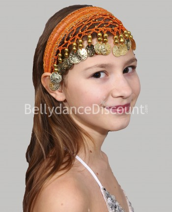 Orange oriental dance hairband