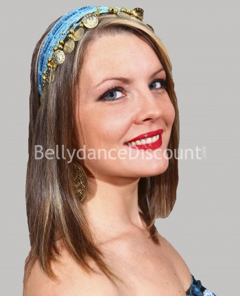 Light blue oriental dance hairband