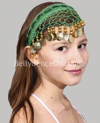 Green oriental dance hairband