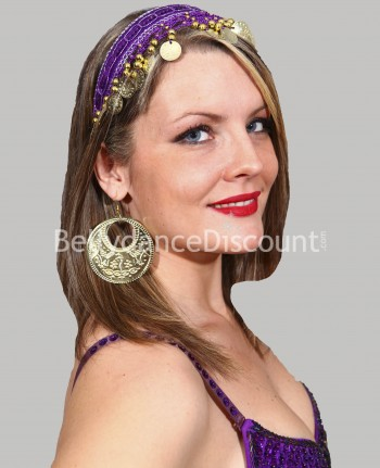 Purple oriental dance hairband