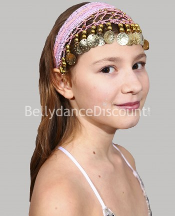 Light pink oriental dance hairband