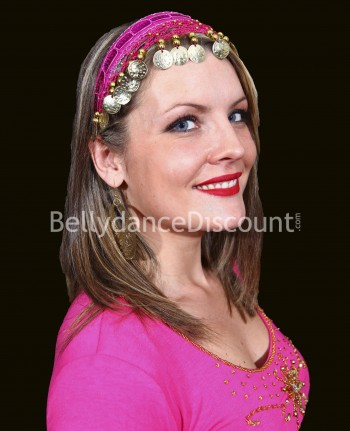 Fuchsia oriental dance hairband