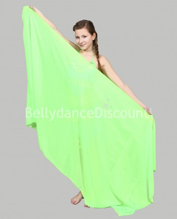 Green belly dance children's veil