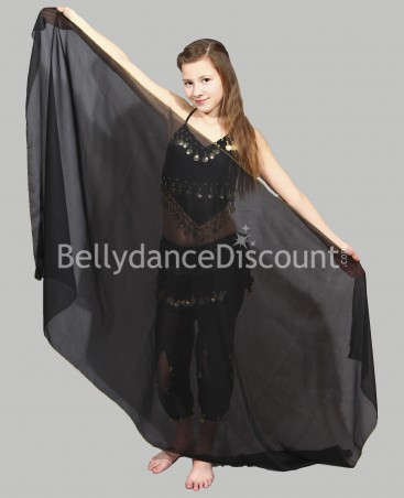 Black  belly dance children's veil