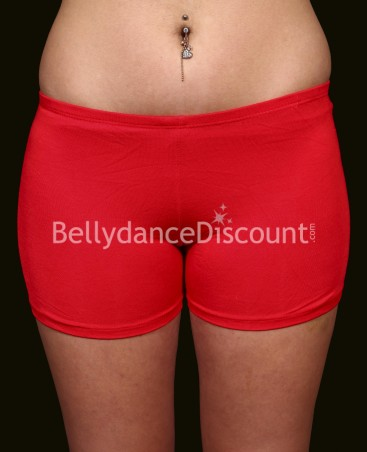 Shorty de danse orientale rouge