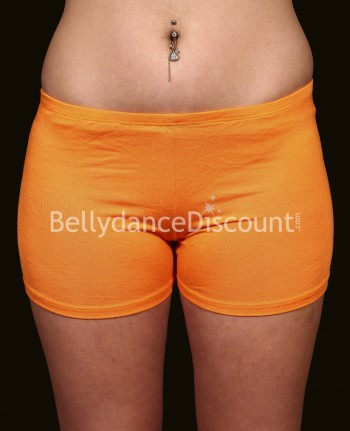 Shorty de danse orientale orange