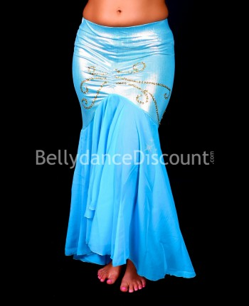 Light blue Mermaid-style Bellydance skirt