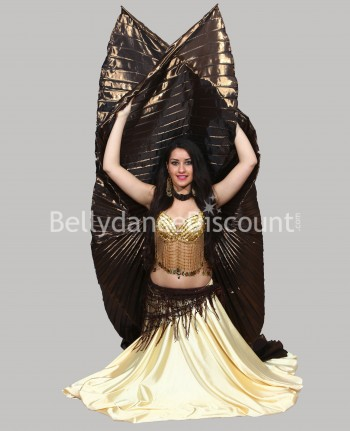 Brown opaque belly dance...
