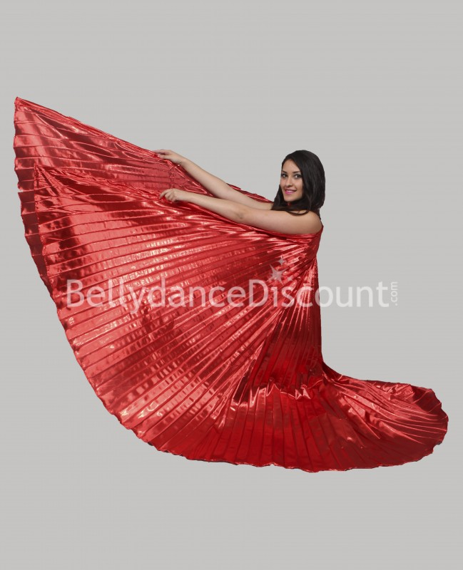 Red opaque belly dance Isis wings