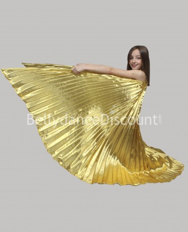 Opaque Bellydance Isis wings for kids gold