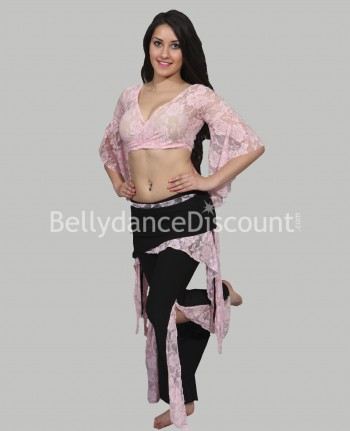 Lace outfit light pink for dance classes