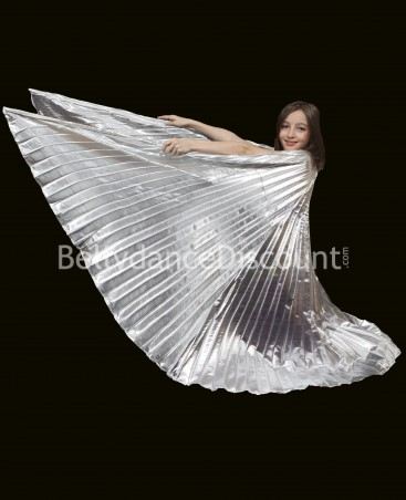 Opaque Bellydance Isis wings for kids silver