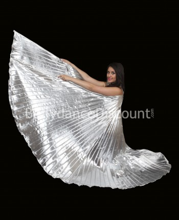 Silver opaque belly dance Isis wings