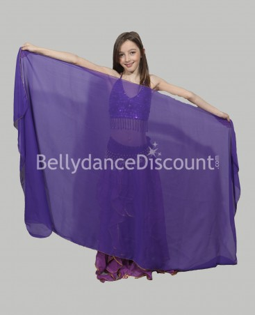 Purple  belly dance children's veil