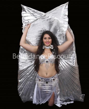 Silver opaque belly dance...