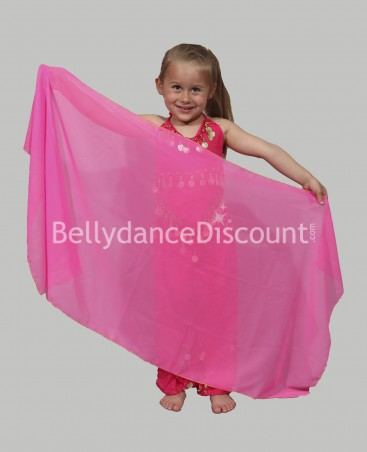 Fuchsia belly dance children's veil
