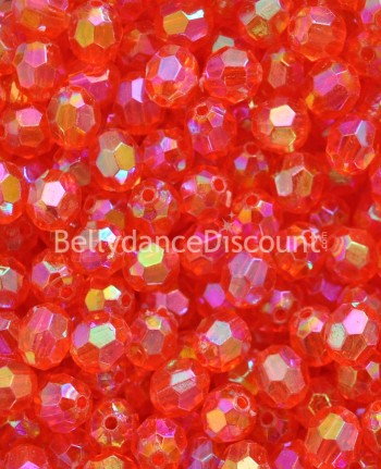 Pack of 50 orange big beads