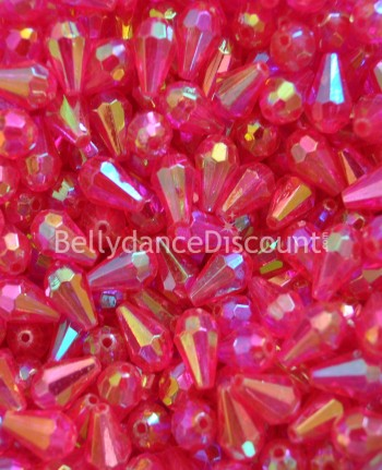 Pack of 50 fuchsia big beads