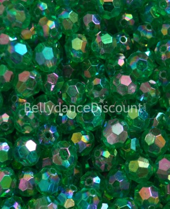 Pack of 50 green big beads