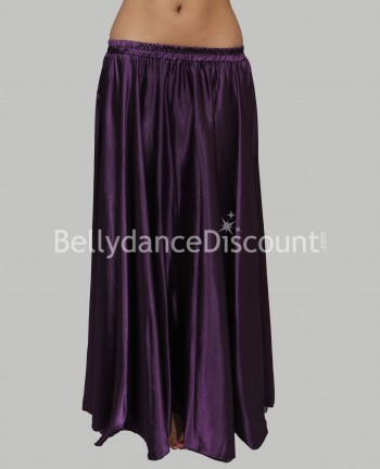 Purple belly dance satin skirt