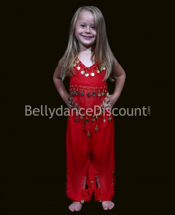 Red belly dance children's costume