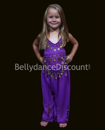 Purple belly dance children's costume