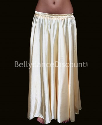 Gold belly dance satin skirt