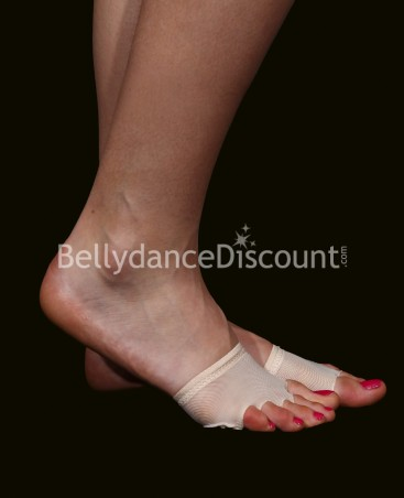 Flesh-colored dance foot pads