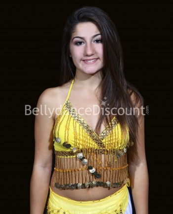 Yellow belly dance  children's top