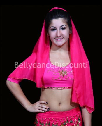 Top bambina di danza del ventre e Bollywood fucsia