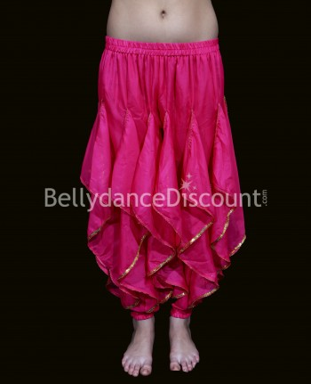 Oriental and Bollywood dance sarouel for girls fuchsia