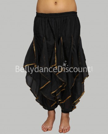 Oriental and Bollywood dance sarouel for girls black